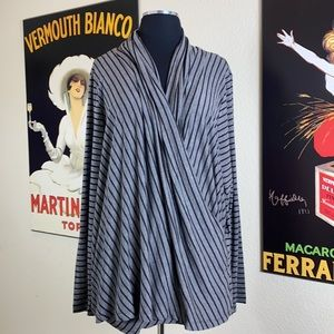 NWT Gibson Wrap Style Striped Long Sleeve, 2X